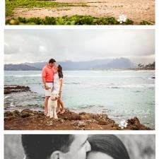L+B Couples Beach Mini-Session, Oahu Hawaii Couples and Engagement Portrait Photographer Jennifer Buchanan - Sunshine Soul Photography
